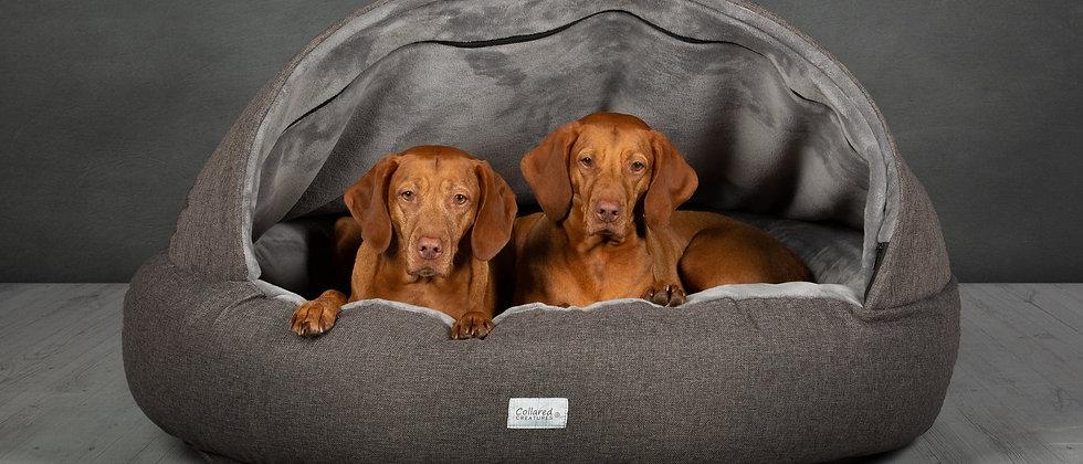 Grey Deluxe Comfort Cocoon Dog Cave Bed