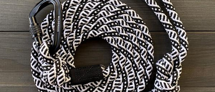 Black and White Rope Leash - 5ft