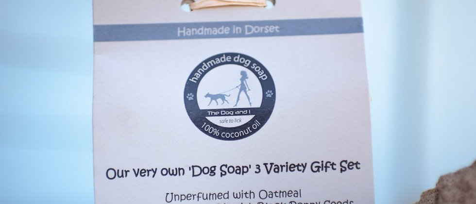 100% Coconut Oil Dog Soap - Triple Soap Gift Set - 150g