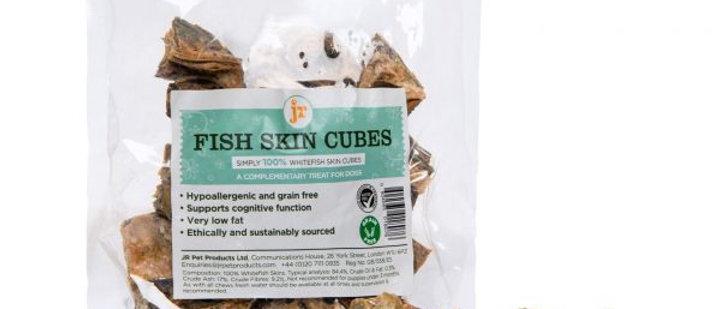 Fish Skin Cubes – 100% Whitefish Skin Cubes 75g