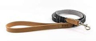 TWEED & LEATHER DOG LEAD - ASCOT