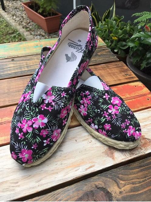 Floral Pink Espadrille / Alpargata Rosa Flores