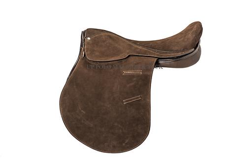 American Suede Polo Saddle / Montura de Descarne Americana