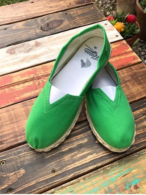 Bright Green Espadrilles / Alpargatas Verde Fluo