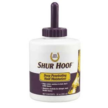 SHUR HOOF DRESSING WITH BRUSH 32OZ