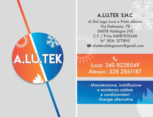 Biglietto da visita A.LU.TEK