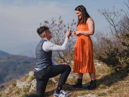 Proposta di matrimonio sulle montagne Vicentine!