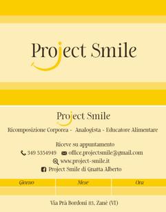 Biglietto da visita PROJECT SMILE