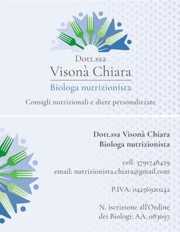CHIARA VISONA' NUTRIZIONISTA