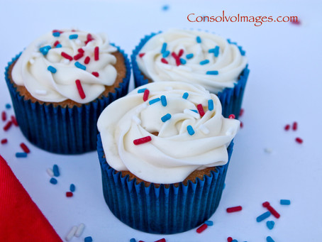 Red, White, and Blue Labor Day Cupcakes