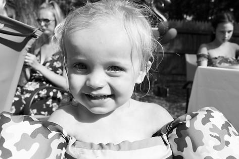 Black & White Photo of Baby Boy