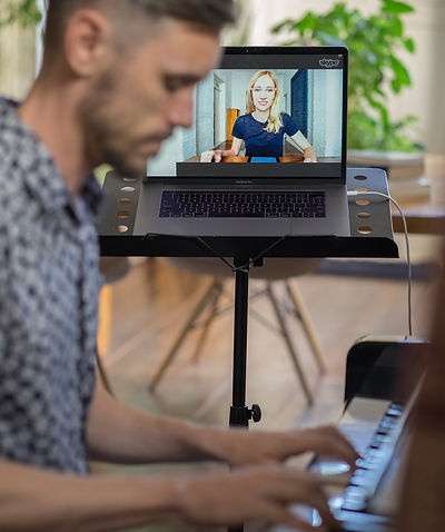 Home setup for online lesson Master Piano Institute