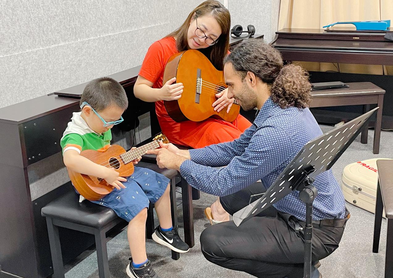 Master Piano Institute Guitar Lesson for children