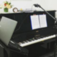 Studio setup for online lesson Master Piano Institute