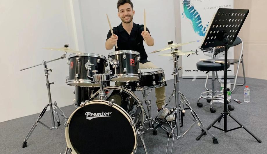 Adult drum lesson