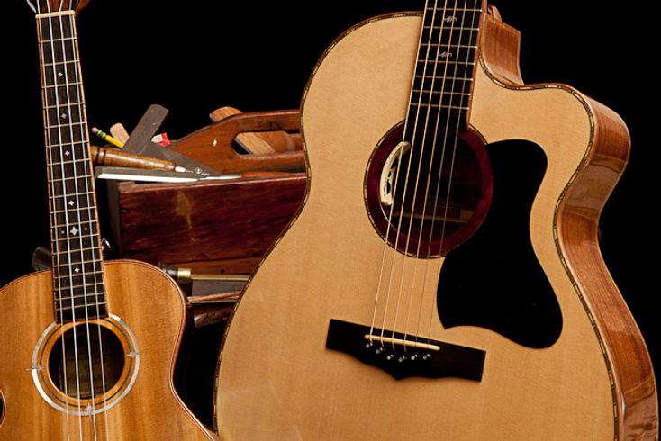 Custom Handmade Acoustic Guitar and Ukul