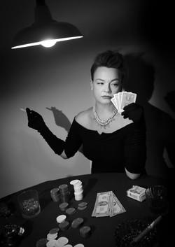 Black and white film noir prints