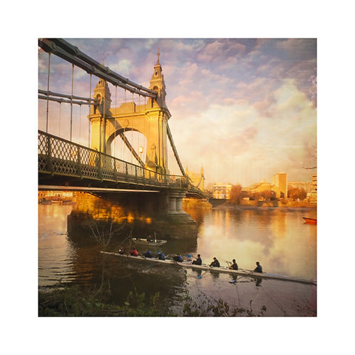 Rowers at Hammersmith bridge