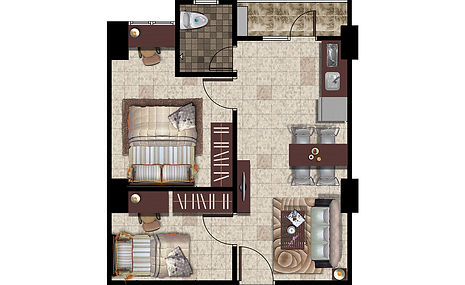 Apartemen Kelapa Gading Type 2 Bedroom