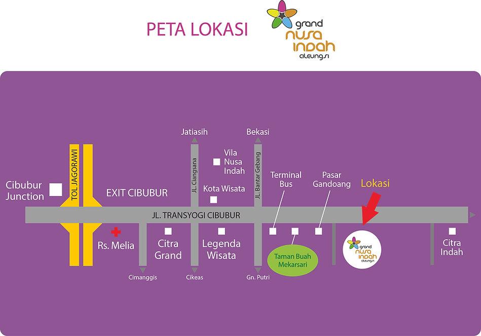 Peta Lokasi Grand Nusa Indah Cileungsi