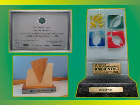 O significado dos prêmios na trajetória do Instituto Redecriar