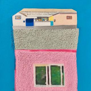 A House Story53.0x40.9cm.Acrylic & Mixed
