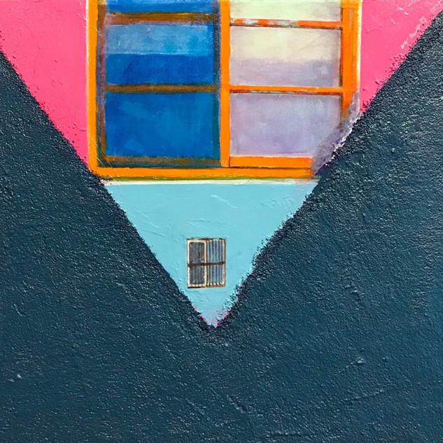 Chunmae Park ,A House Story 40.9x53cm Acrylic & Mixed media on Arches panel 2019