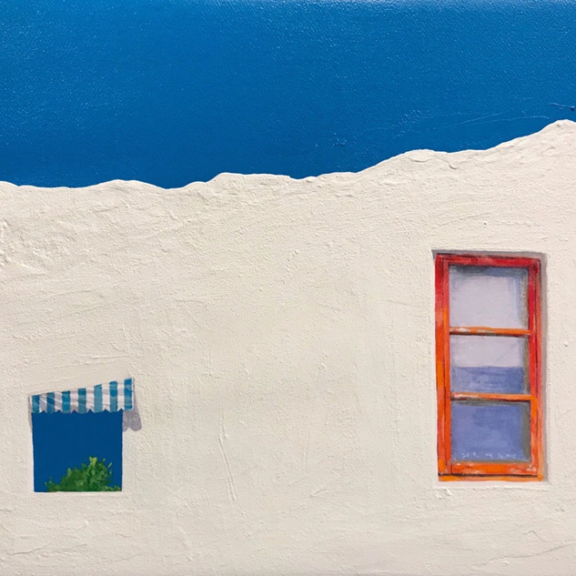 Chunmae Park ,A House Story 50x60.6cm  Acrylic & Mixed media on Arches panel 2019