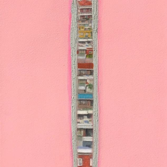 A House Story53.0x33.4cm.Acrylic & Mixed
