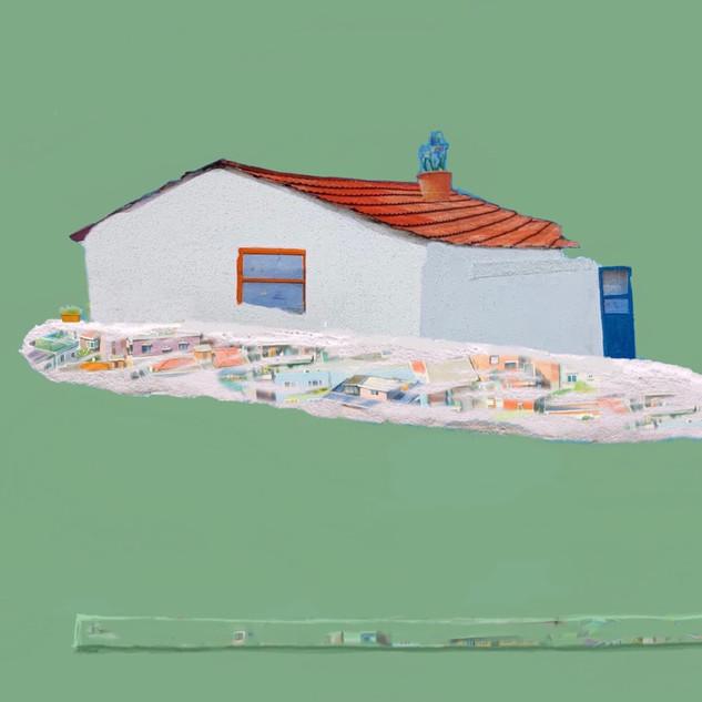 Chunmae Park ,A House Story 38x45.5cm Acrylic & Mixed media on Arches panel 2019