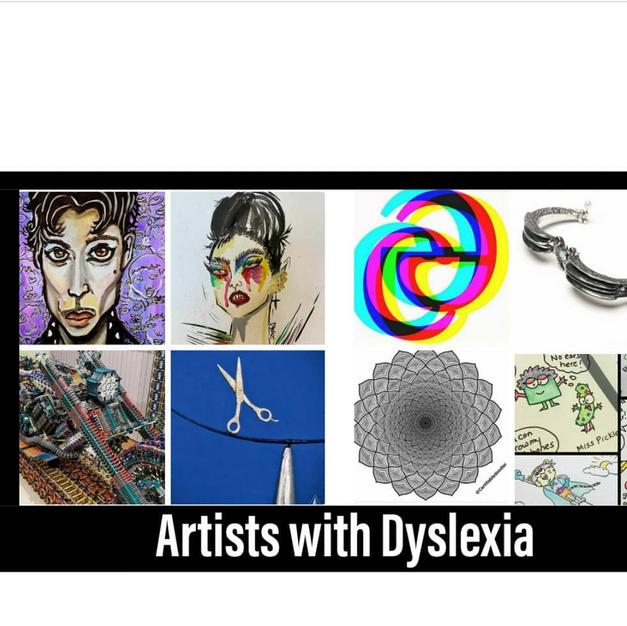 Creative dyslexics featured in 2020 - artistswdyslexia