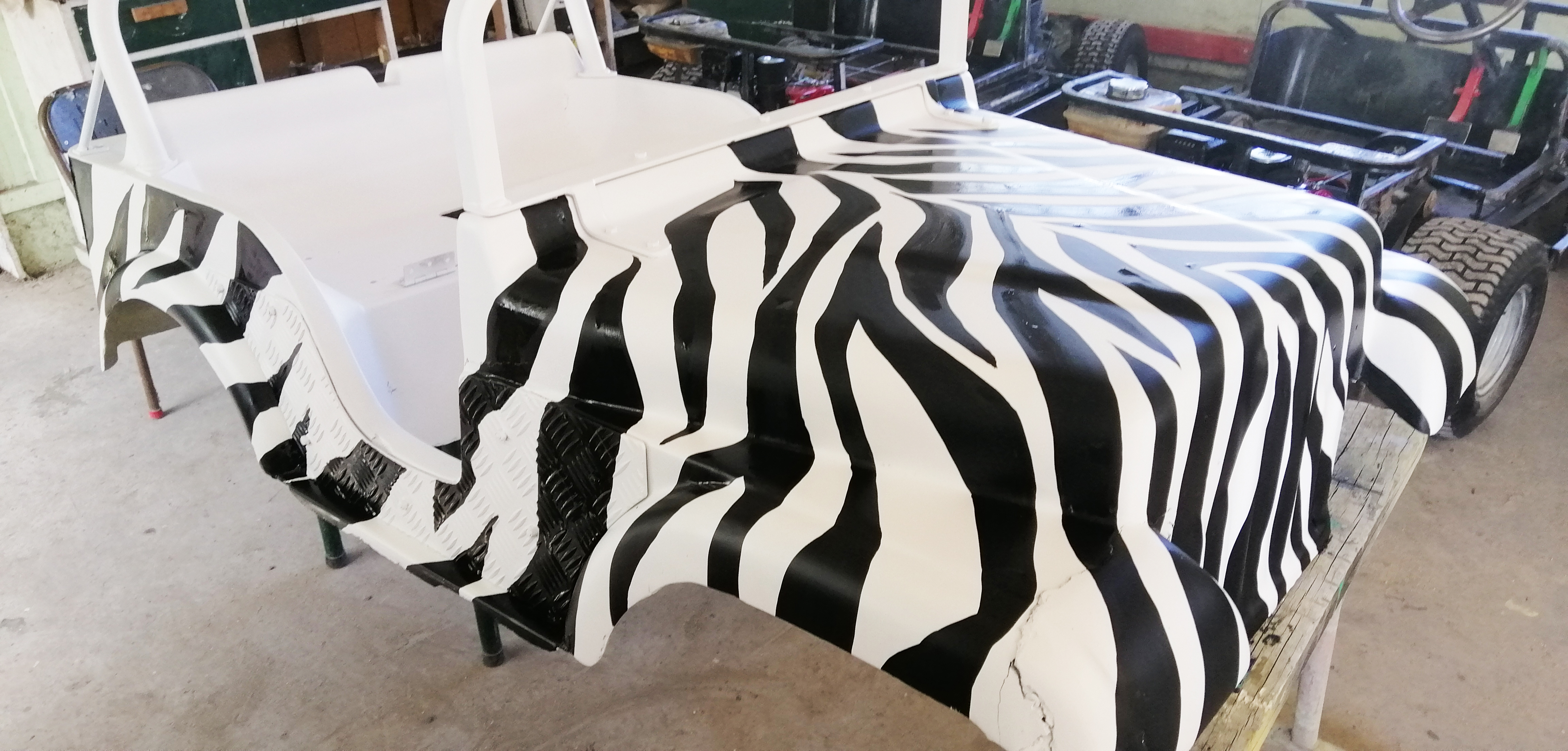 zebra safari paint job