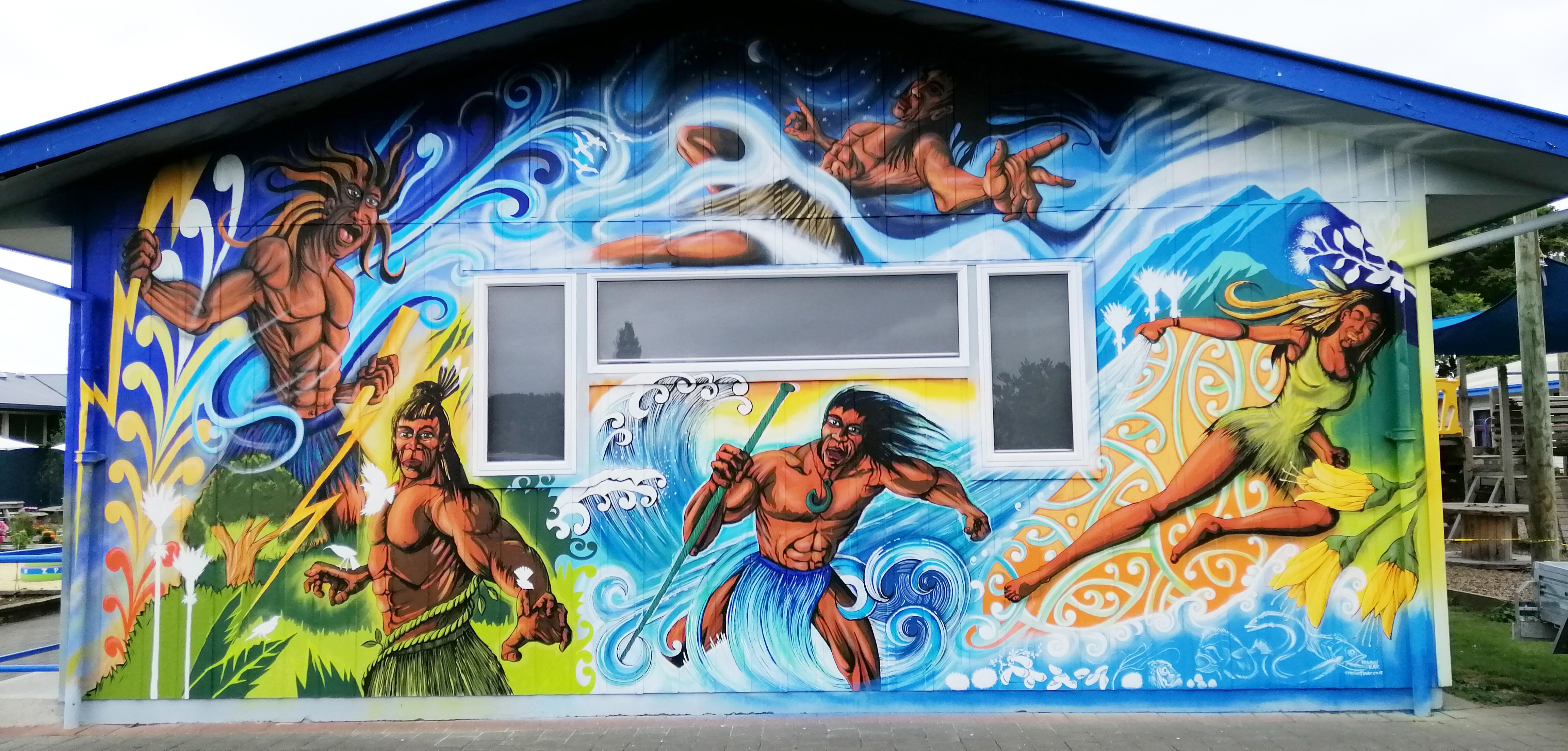 maori gods mural finished