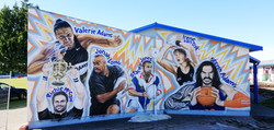 sports mural finished