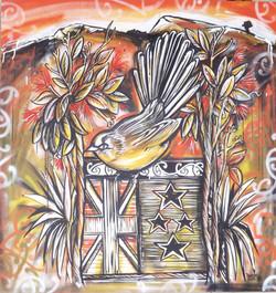 fantail mural fin
