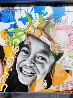 face 1 mural