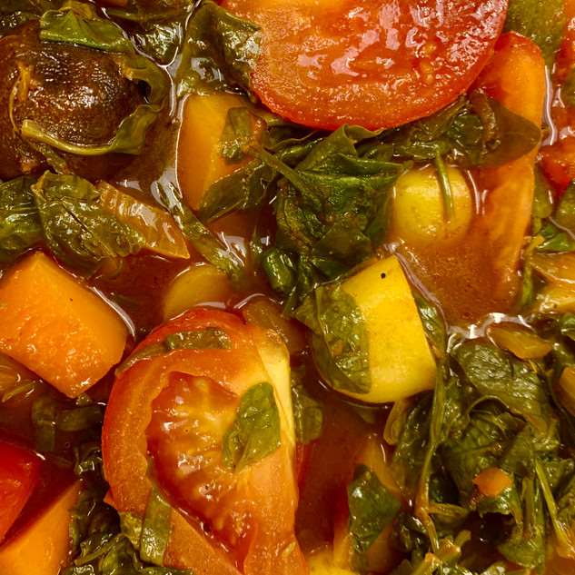 Iranian Vegetable Stew with Dried Limes