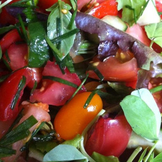 Heritage Tomato, Cucumber & Fresh Herb Salad