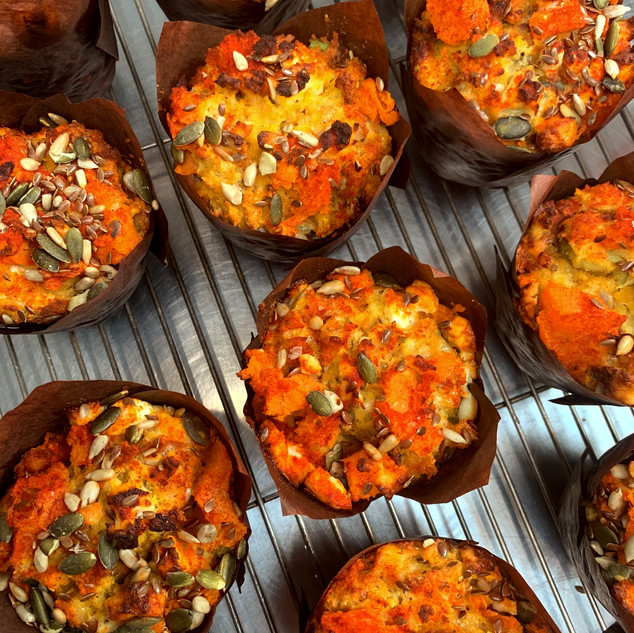Avocado, Feta & Sweet Potato Muffins