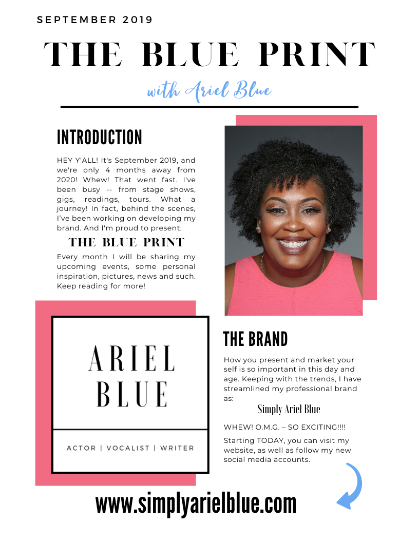 The Blue Print | September 2019 | Page 1 | Introduction & The Brand
