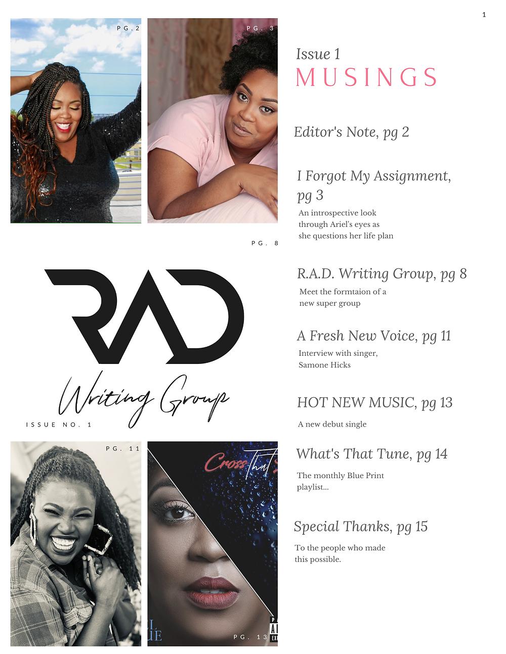 Blue Print Contents page, Sept 2020