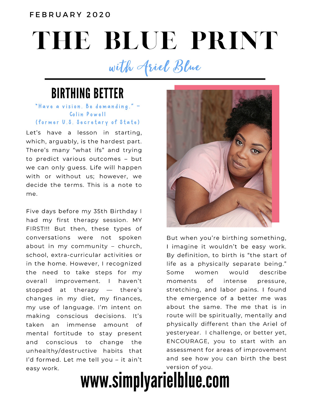 The Blue Print | February 2020 | Page 1 | Birthing Better