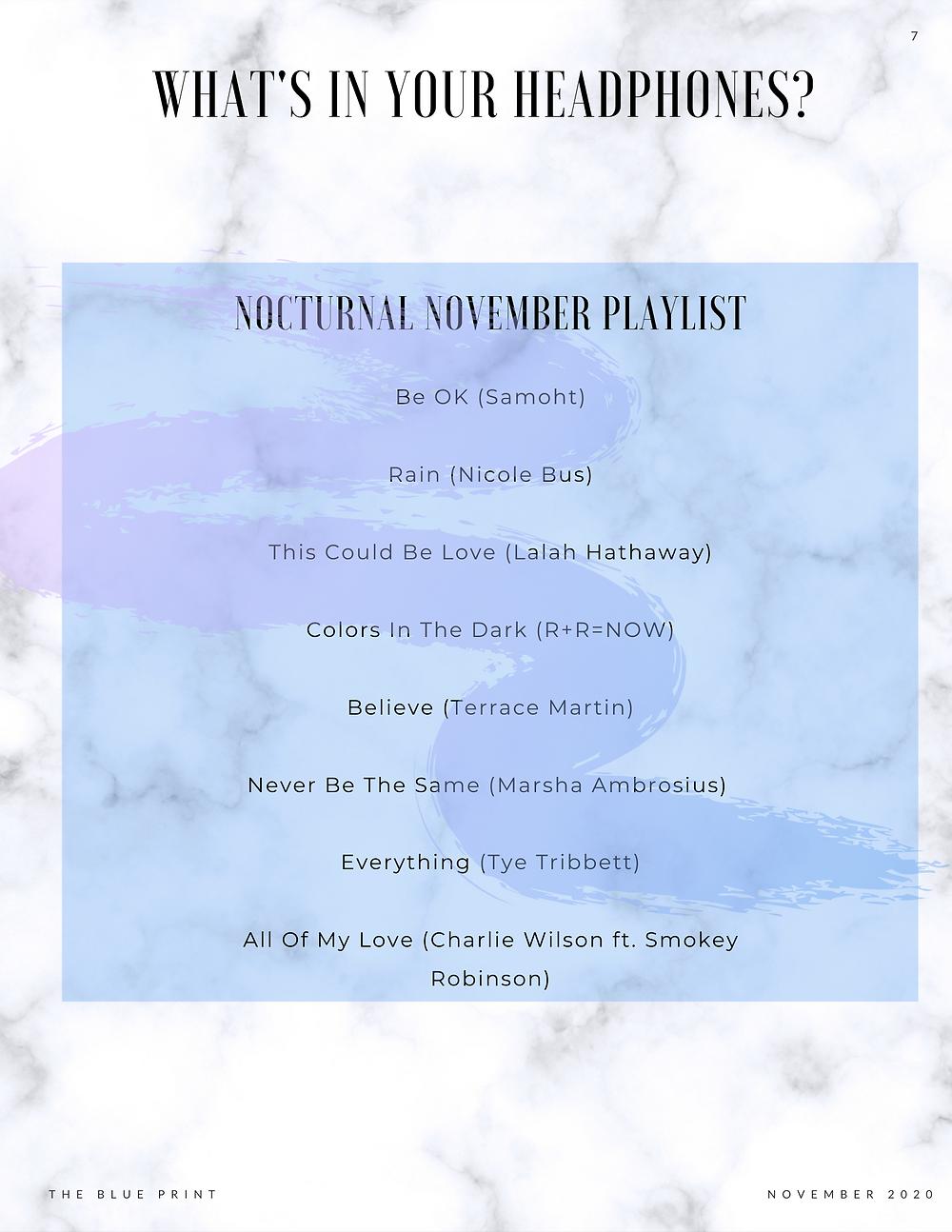 Nocturnal November Playlist
