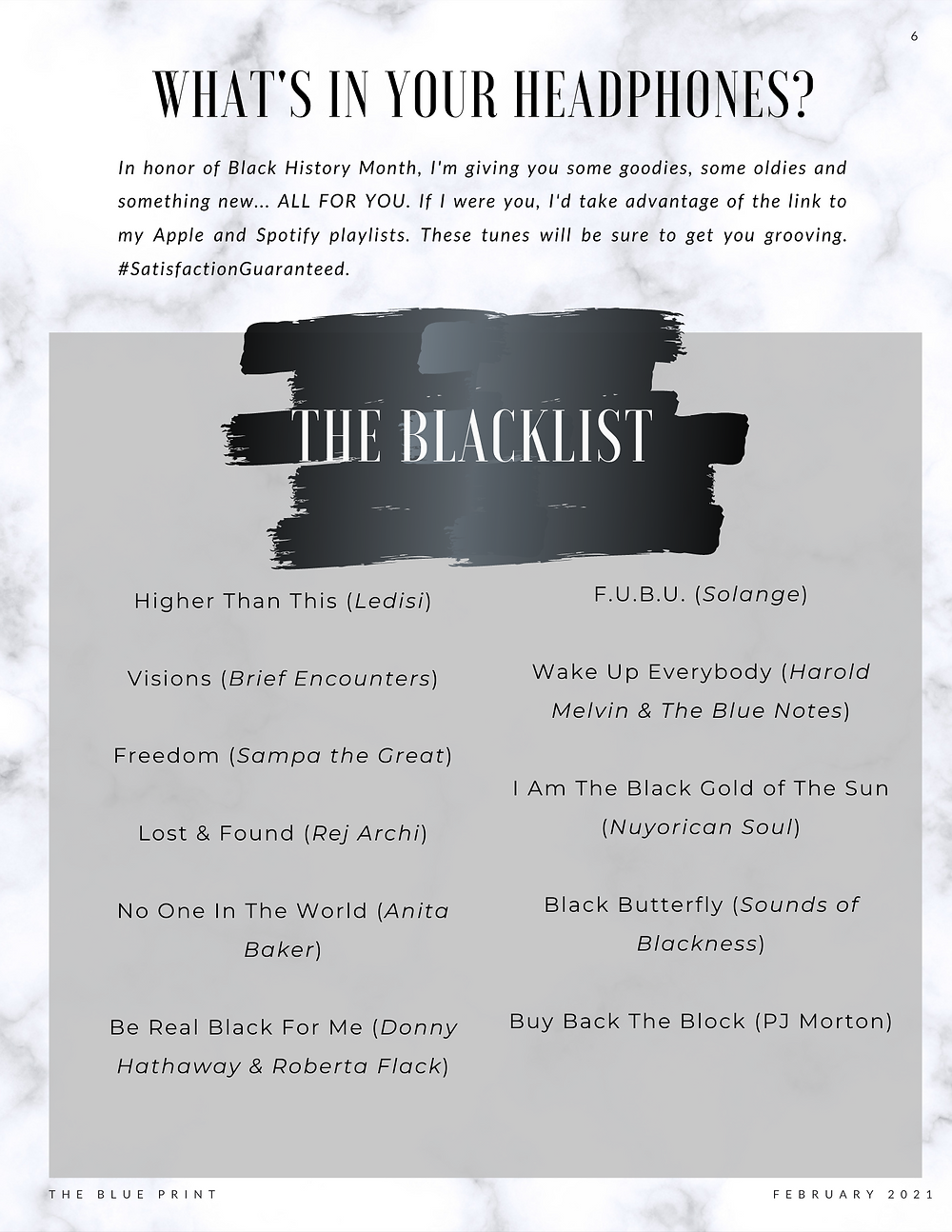 The Blue Print | February 2021 | The Blacklist Music Playlist