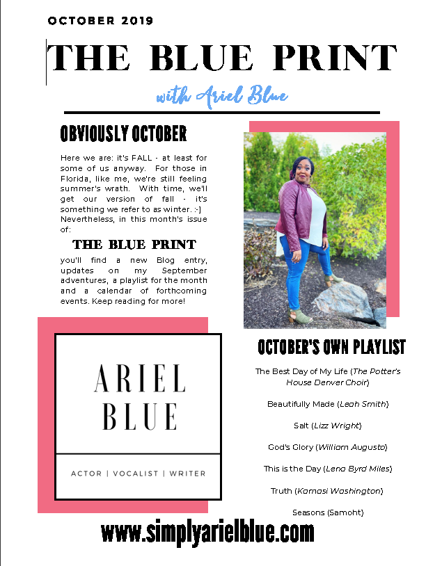 The Blue Print | October 2019 | Page 1 | Obviously October & October's Own Playlist