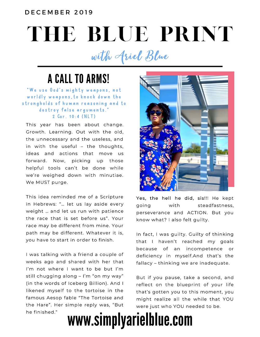 The Blue Print | December 2019 | Page 1 | A Call To Arms