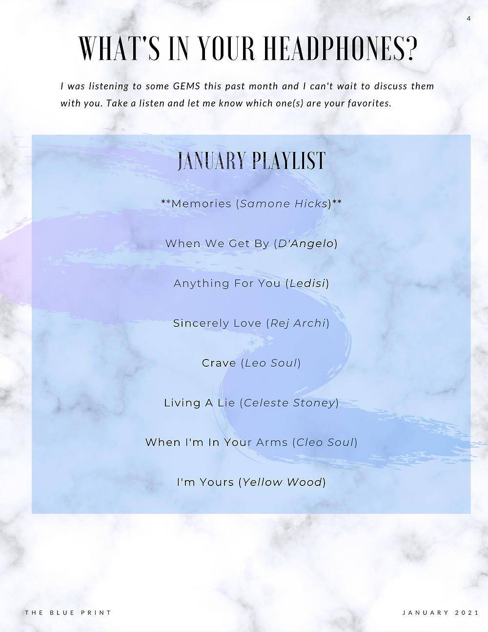 The Blue Print | January 2021| Music Playlist
