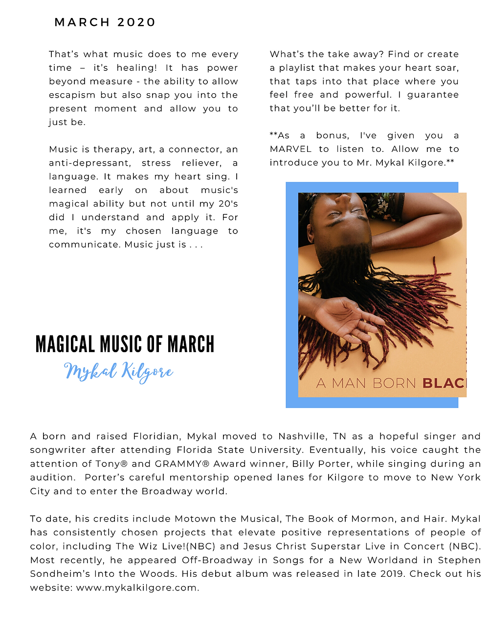 The Blue Print | March 2020 | Page 2 | Magical Music