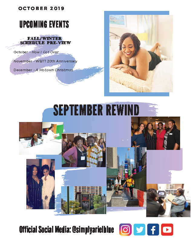 The Blue Print | October 2019 | Page 3 | Upcoming Events & Sept Rewind