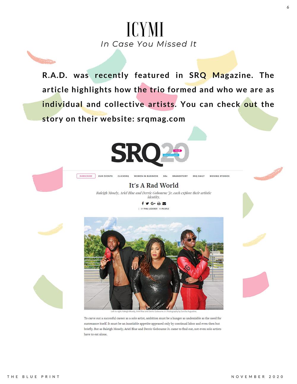 ICYMI: RAD in SRQ Magazine